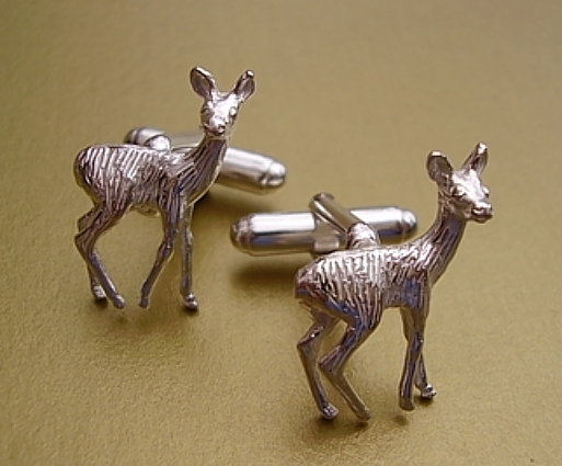 Sterling Silver Wild Deer Cufflinks