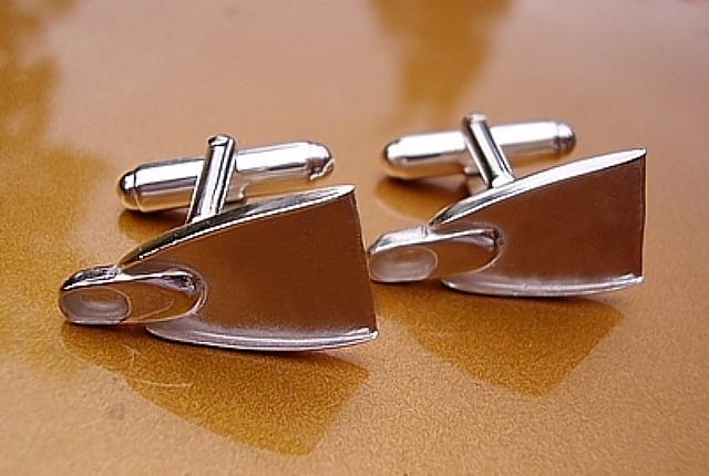 Sterling Silver Flipper Cufflinks