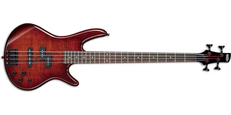 Ibanez GSR200SM-CNB - Spalted Maple top Charcoal Brown Burst