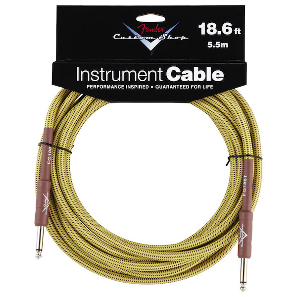 Fender Custom Shop Performance Series Instrument Cable (18.6ft 5.5M, Tweed)