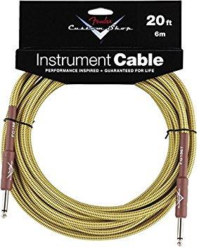 Fender Custom Shop Instrument Cable, Tweed, 20ft 6m