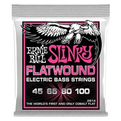 Ernie Ball Flatwound Cobalt Slinky Bass Guitar String Set, .045-.100