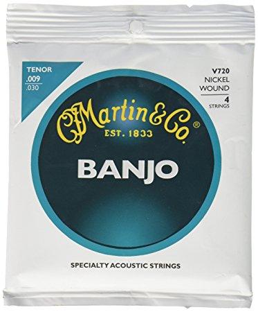 Martin Nickel Wound Tenor Vega Banjo Strings 9-30 V720
