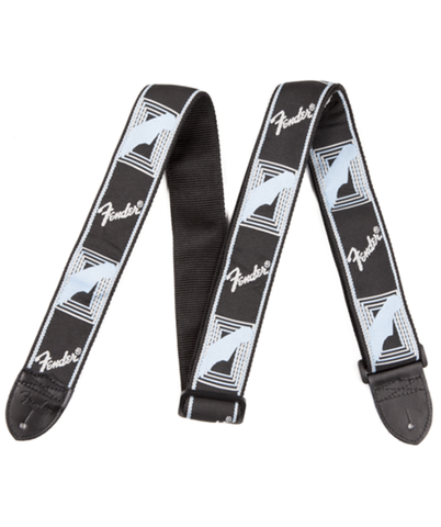 Fender Jacquard Monogrammed Guitar Strap (Black/Grey/Blue)