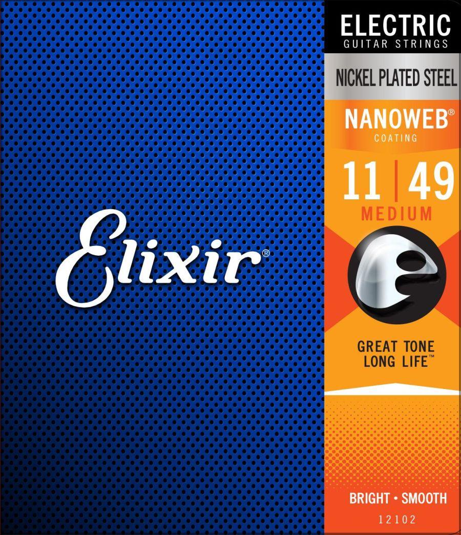 Elixir Nanoweb Electric Guitar Medium 11-49 E12102