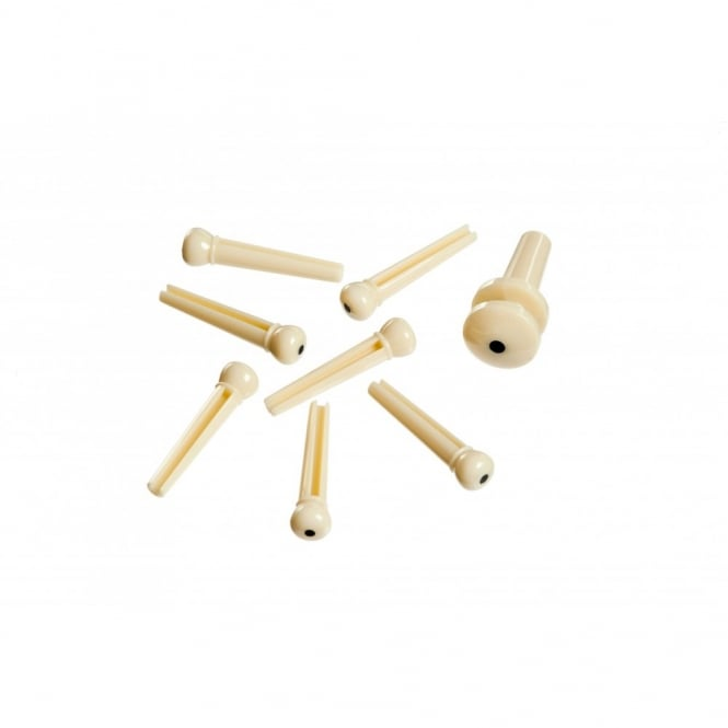 TGI Bridge Pins - Plastic Cream with Dot - BP20W