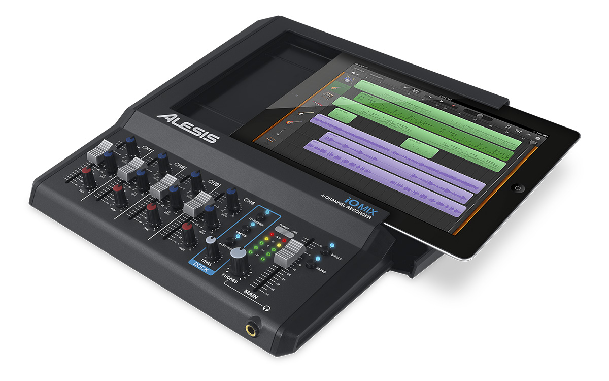 Alesis IO IO MIX 4-Channel Audio Interface / Mixer for iPad