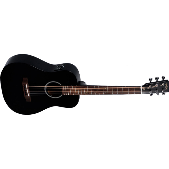 Sigma TM-12E-BK Electro-Acoustic Travel Guitar with Bag