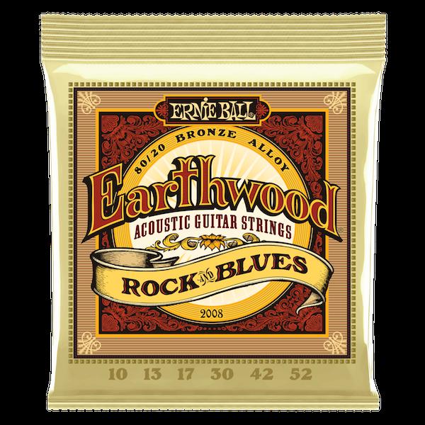 Ernie Ball 2008 Earthwood Rock & Blues Acoustic Guitar Strings .10 - .52