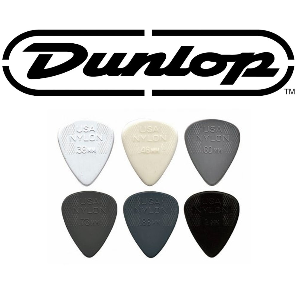 Jim Dunlop Nylon Standard Guitar Picks 12 Pack (.38 - .46 - .60 - .73)