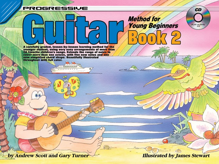 Progressive Guitar Method for the Young Beginner Book 2: Book & Cd