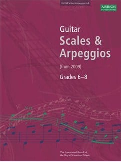 ABRSM Guitar Scales and Arpeggios, Grades 6-8