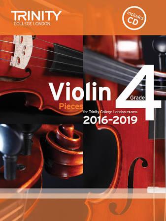 Trinity College London Violin Exam Pieces Grade 4 2016-2019 Book & CD