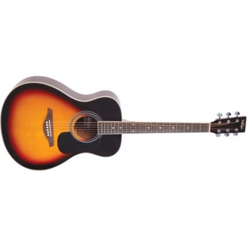 Vintage V300-VSB  Folk Acoustic Guitar - Vintage Sunburst