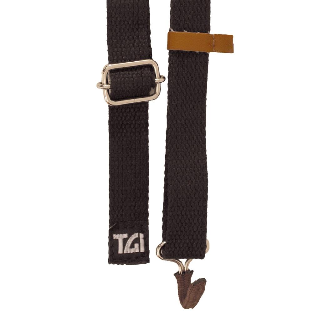 TGI Ukulele Sling Strap with Soundhole Hook (Black) TGSUKBK