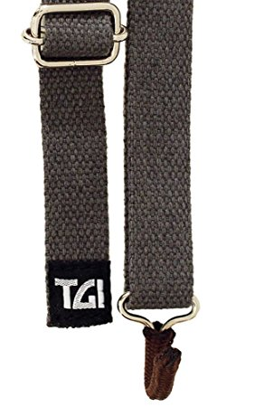 TGI Ukulele Sling Strap with Soundhole Hook (Grey) TGSUKGY