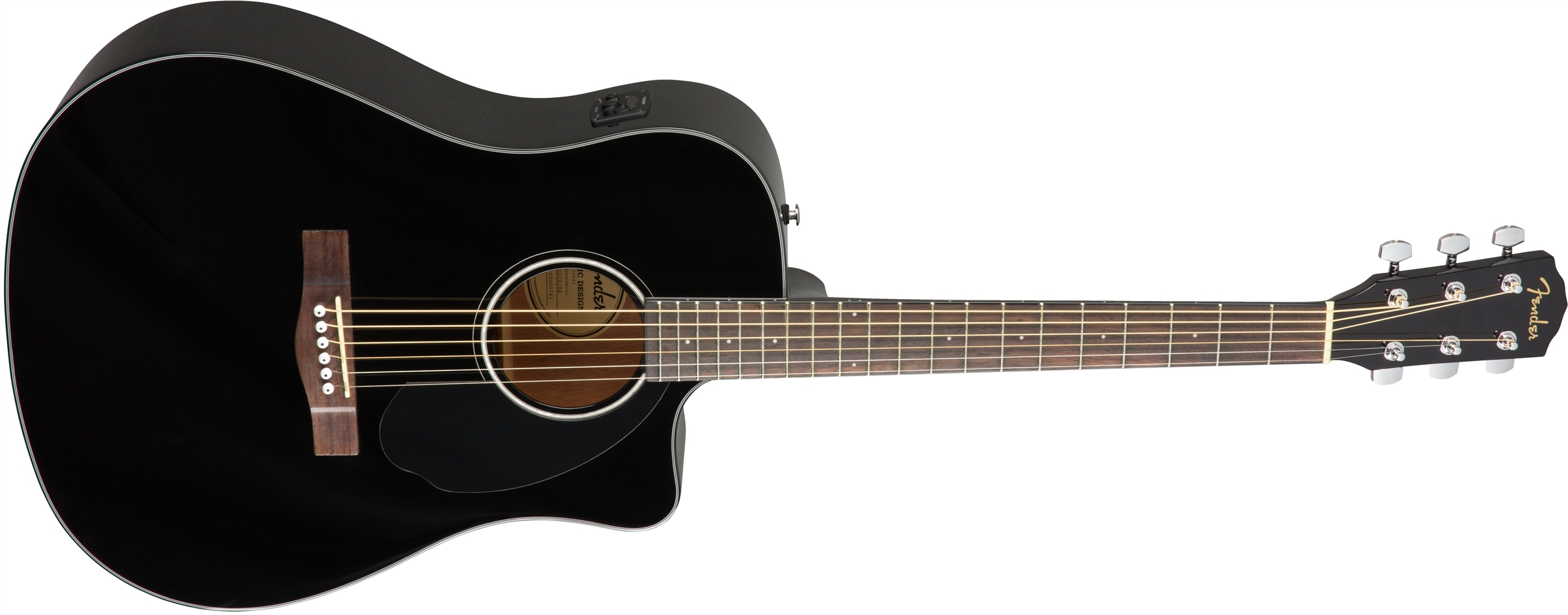 Fender CD-60SCE Dreadnought Electro Acoustic Guitar, Black