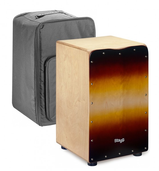 Stagg CAJ-50M SB Cajon Drum With Free Gigbag Sunburst