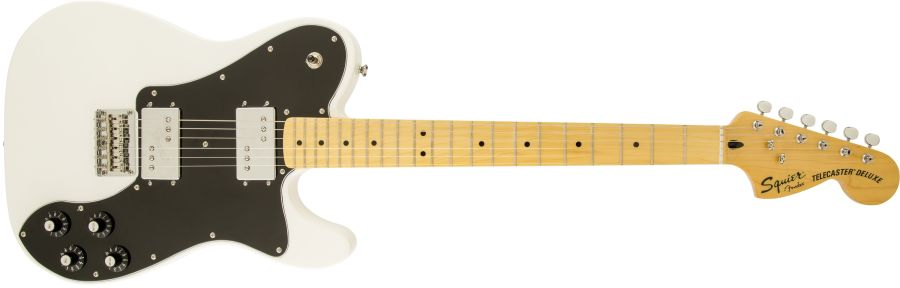 Squier Vintage Modern Telecaster Deluxe Guitar in Olympic White (EX DISPLAY) Inc Free Gig Bag & 2 Free Lessons