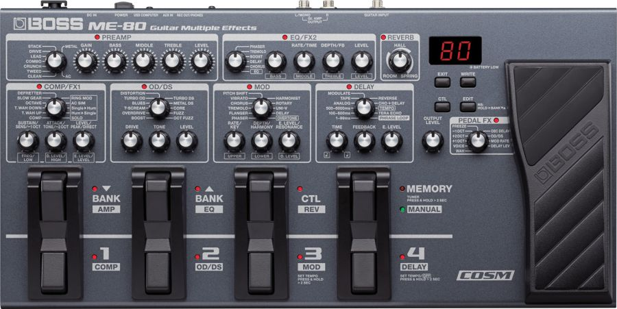 Boss ME-80 Guitar Multi-Effect Processor
