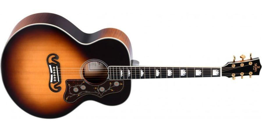 Sigma GJA-SG200 Jumbo Electro Acoustic Guitar, Vintage Sunburst