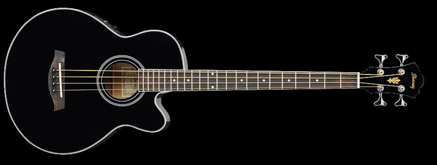 Ibanez AEB8E-BK Acoustic Bass Black