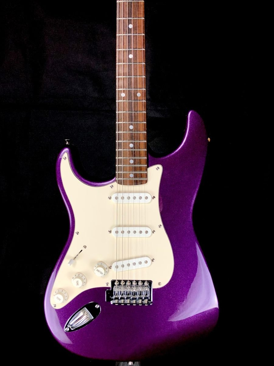 SOLD - Left handed Squier Standard Series Stratocaster  - Purple