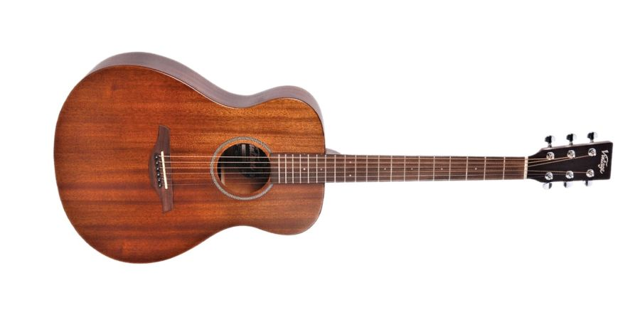 Vintage V300MH Mahogany Folk Acoustic Guitar
