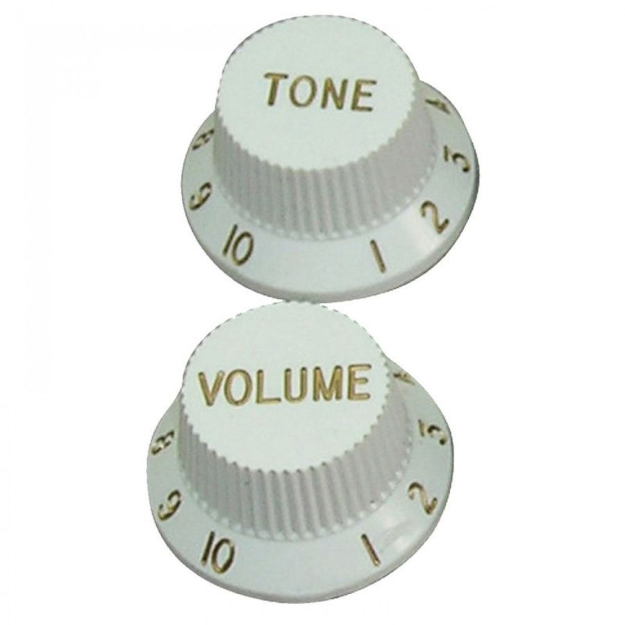 GT Control Knobs - White - Set/3 - KW240 GT506