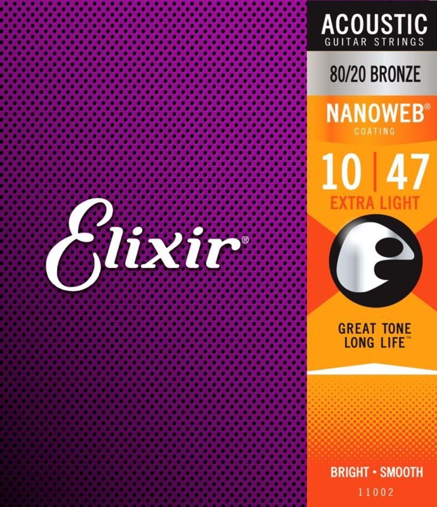 Elixir 80/20 Nanoweb Extra Light 10-47