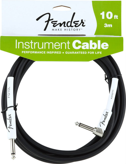 Fender Performance Series Instrument Cable, 10` Angled