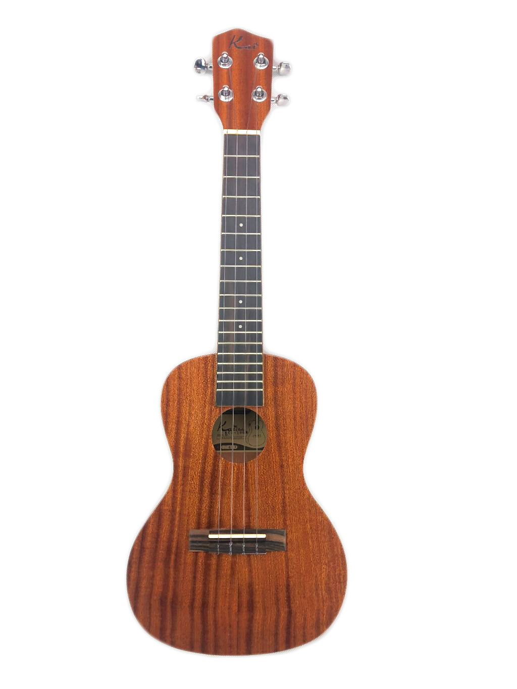 Kai Mahogany Concert Ukulele Solid Top, Sound Port, Gig Bag KCI-100M