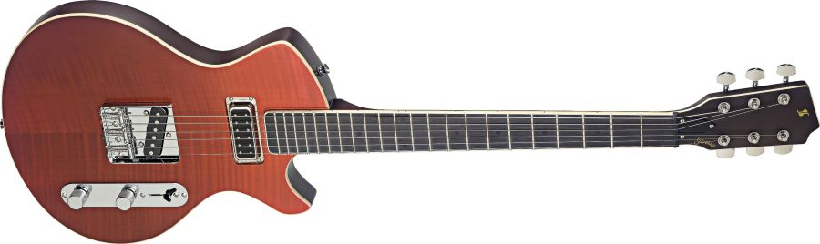 Silveray Custom Deluxe Model Electric Guitar, Shading Red
