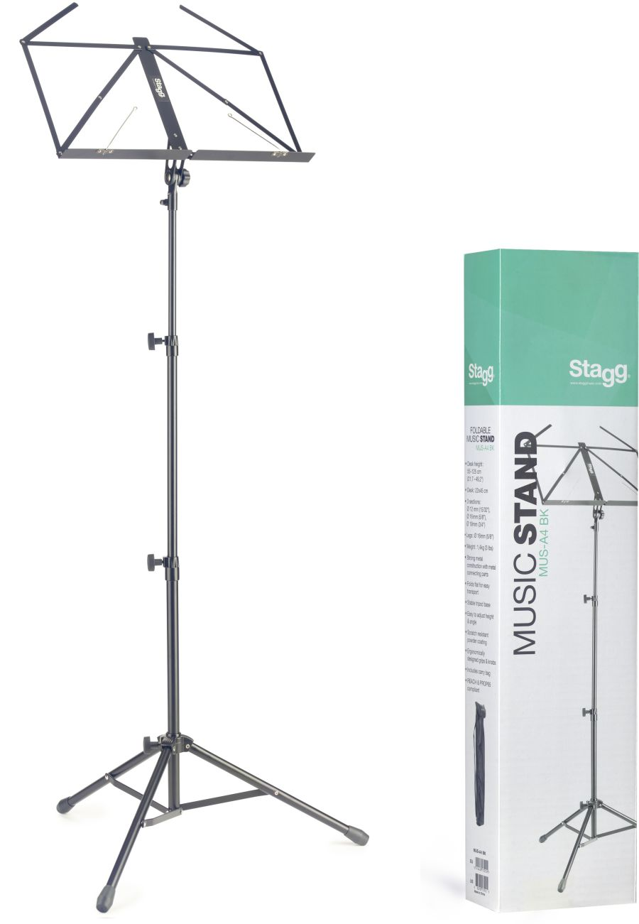 Lyra Collapsible Tubular Music Stand (3 section)