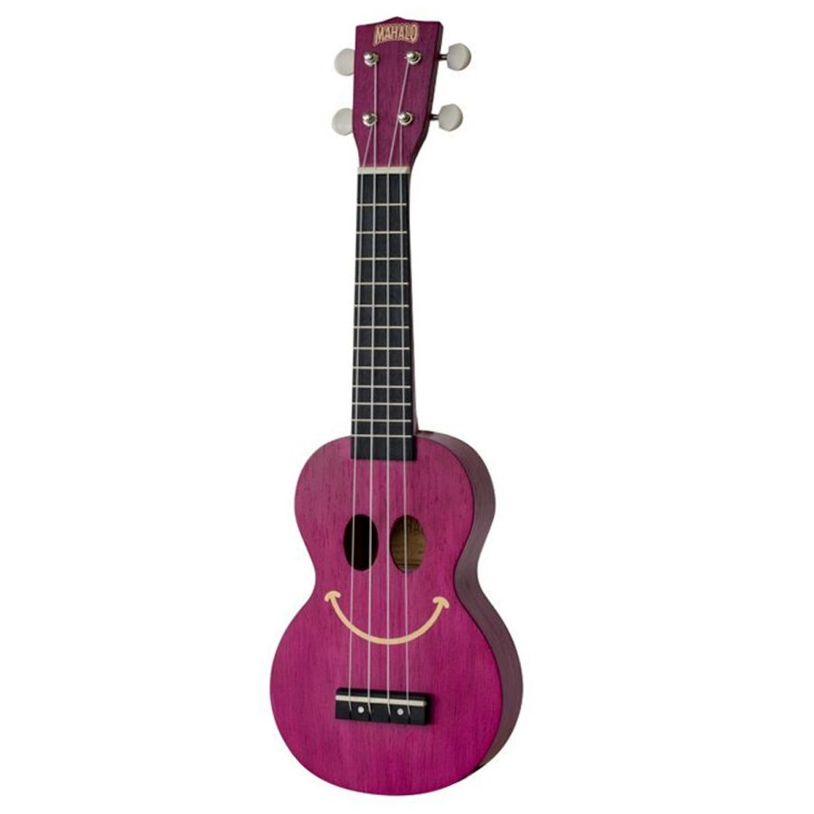 Mahalo Kahiko Smile Transparent Purple Ukulele