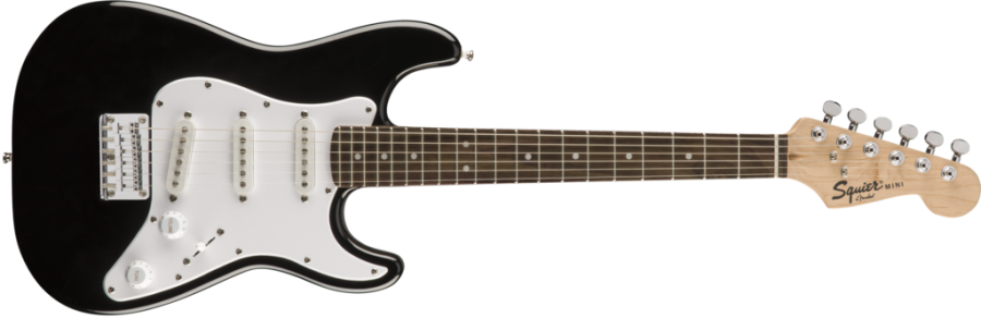 Squier Mini 3/4 Size Electric Guitar V2, Black