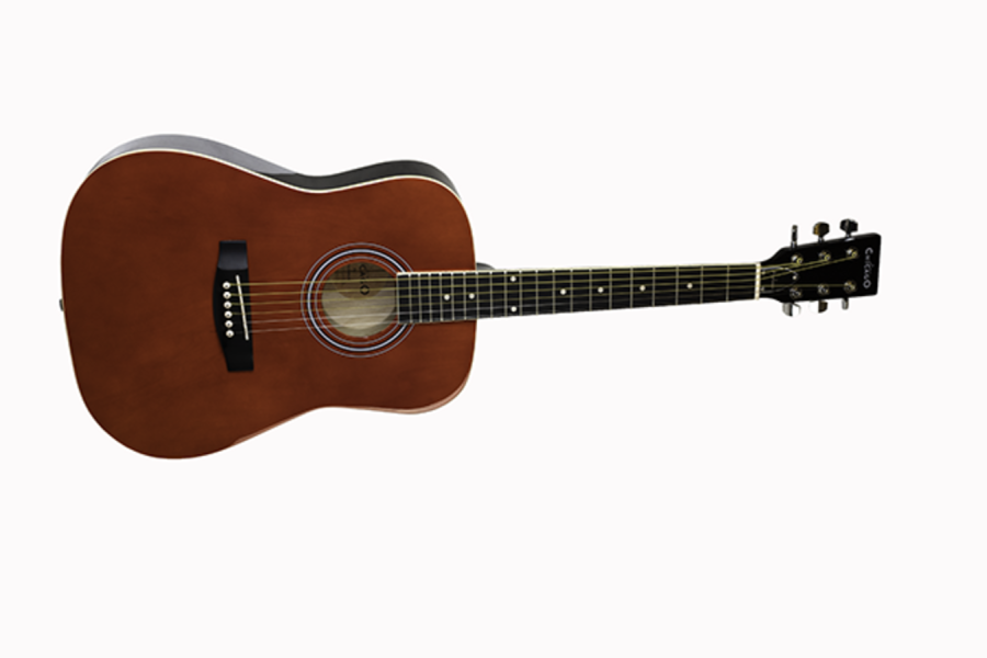 Chicago by Freshman CH1JNRRD Junior Acoustic Guitar Red