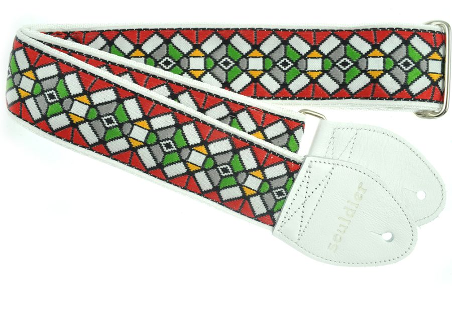 Souldier Guitar Strap Stained Glass, Red