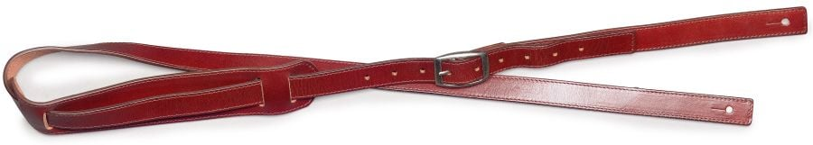 Stagg Rockabilly Brown Leather Guitar Strap