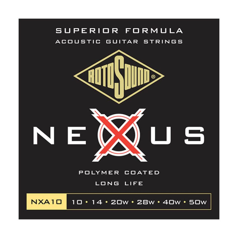Rotosound NXA10 Nexus Coated Phosphor Bronze, Extra Light, 10-50