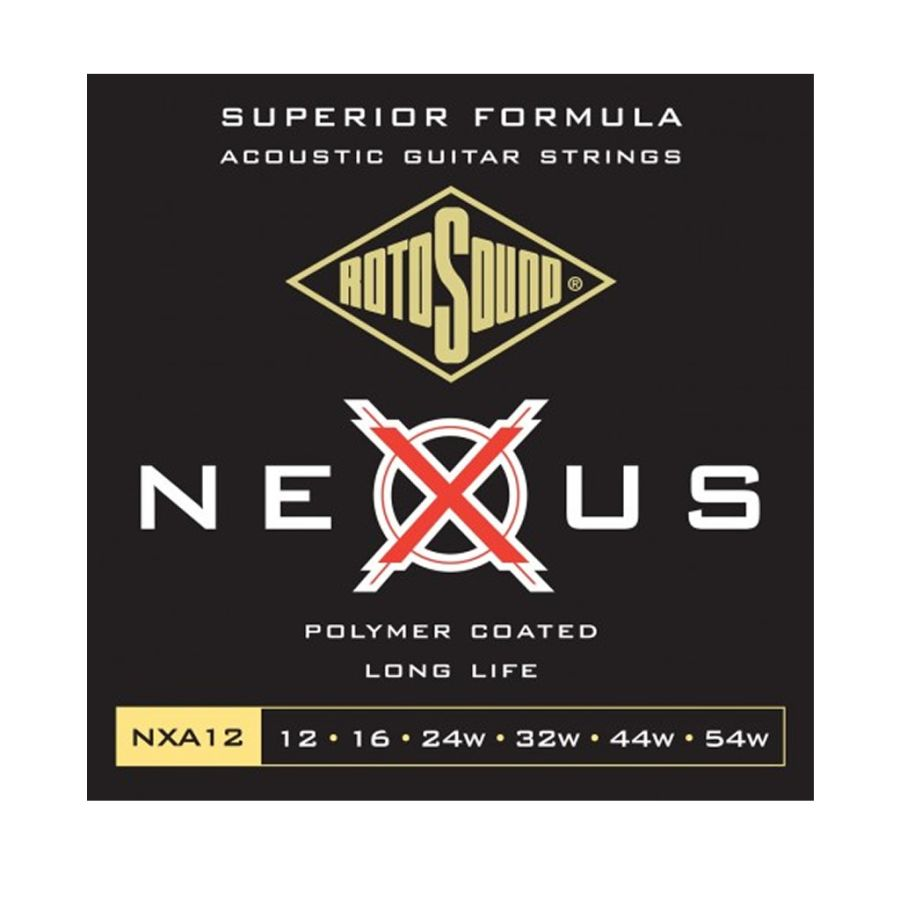 Rotosound NXA12 Nexus Polymer Coated Acoustic Guitar Strings 12-54