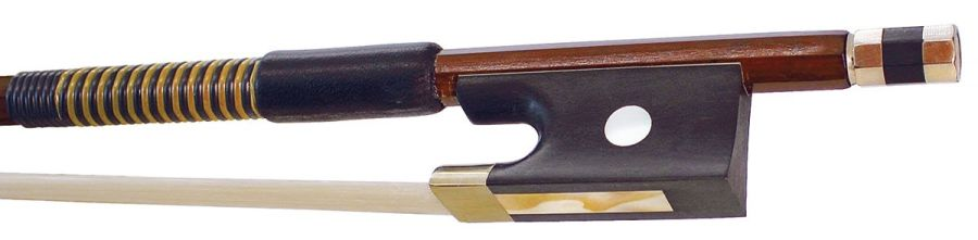 Hidersine 5059C Half Mounted Violin Bow, 1/2 Size