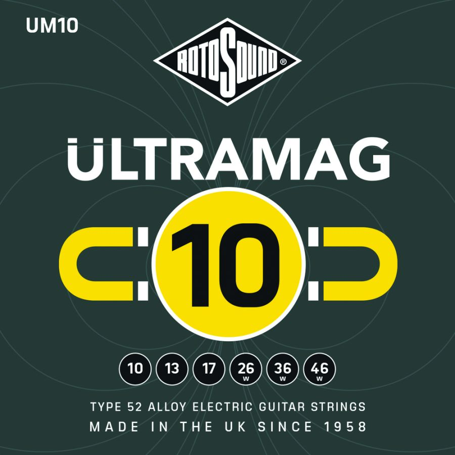 Rotosound UM10 Ultramag 10-46w Type 52 Alloy Electric Guitar Strings