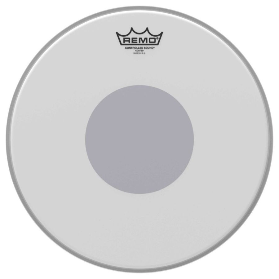 Remo Controlled Sound Coated 14'' Reverse Black Dot Snare Drum Head - CS-0114-10