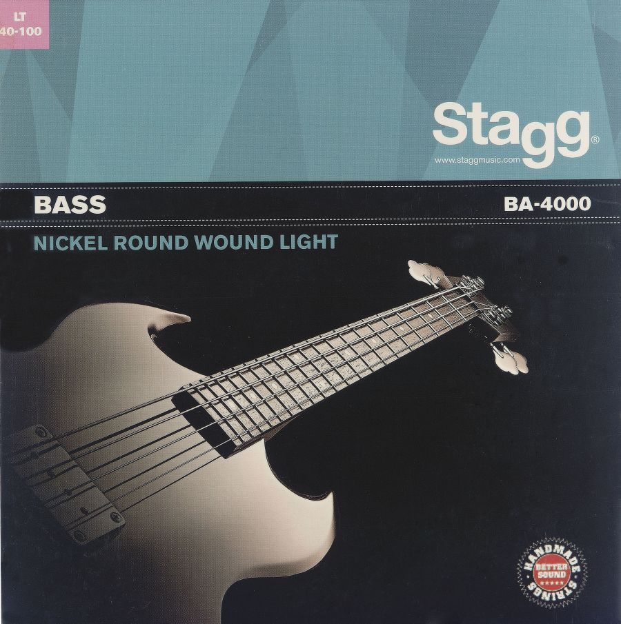 Stagg BA-4505 Nickel Roundwound Strings for Electric Bass Guitar 45-105