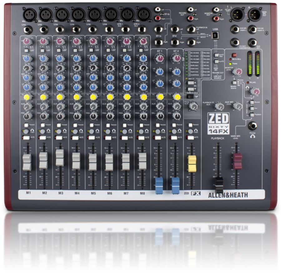 Allen & Heath Zed60-14FX - 14 Channel Mixer