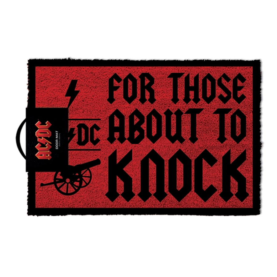 ACDC For Those About To Knock Door Mat