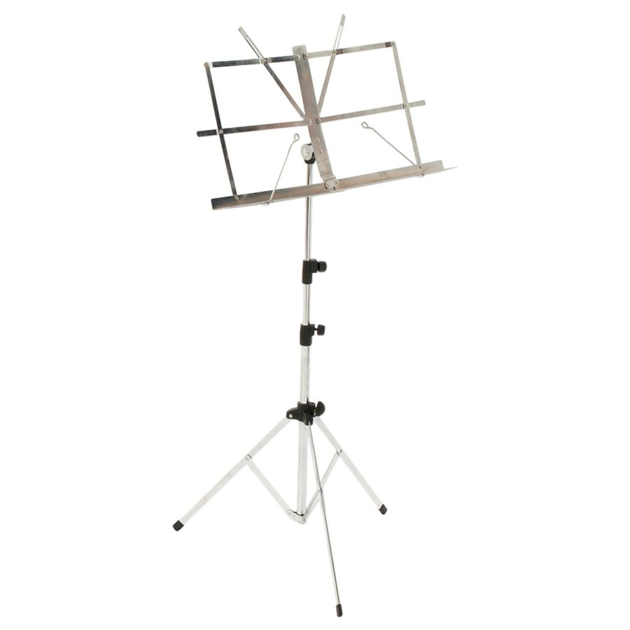 Percussion Plus Light Weight Music Stand - Chrome