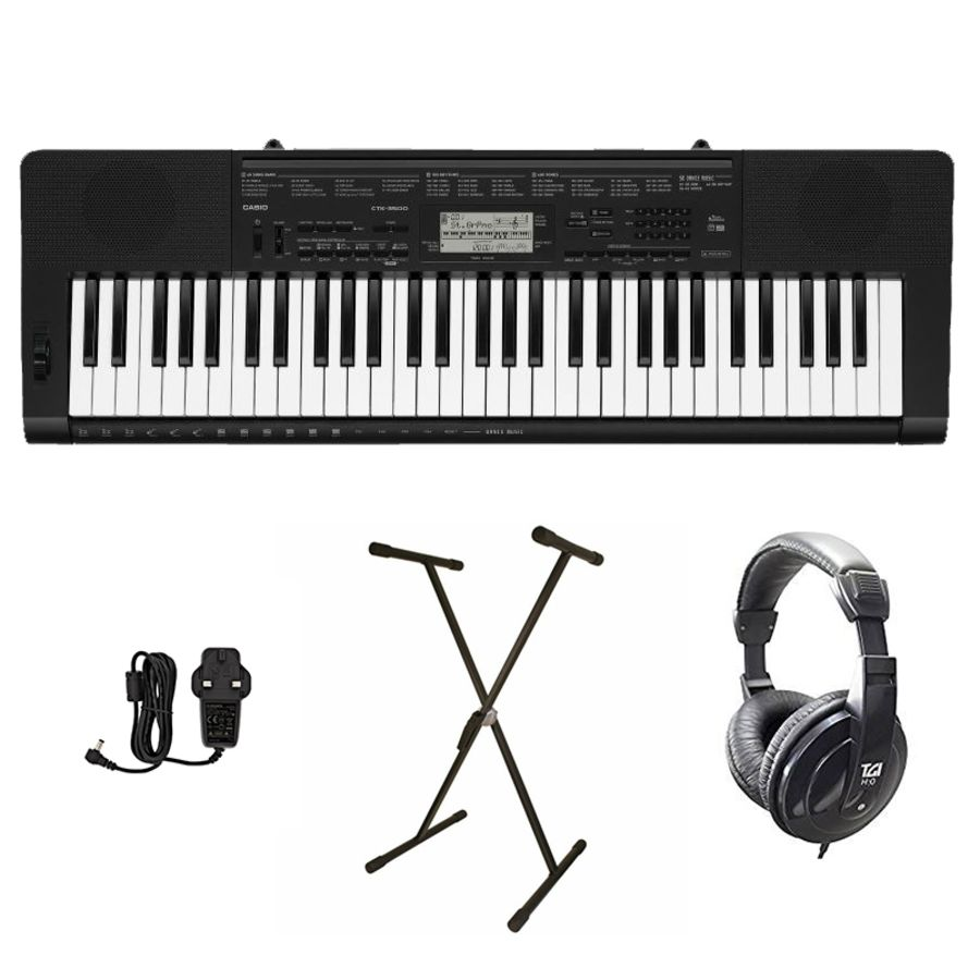 Casio CTK-3500 - 61 note Keyboard Starter Bundle