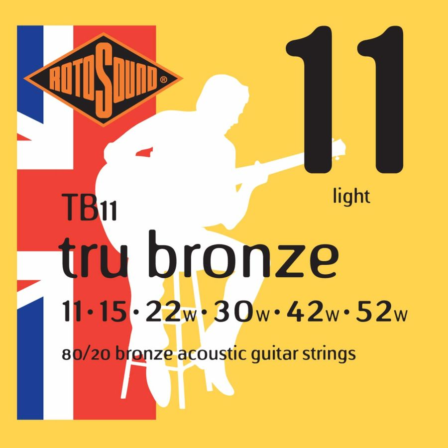 Rotosound TB11 TRU Bronze Light 11-52 Acoustic Guitar Strings